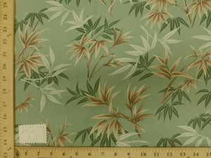 Sage Bamboo Leaf Hawaiian Floral Cotton HP-537