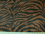 Zebra Charmeuse Satin BROWN/BLACK LARGE