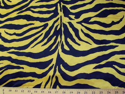 Zebra Charmeuse Satin YELLOW GOLD/BLACK LARGE