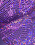 Metallic Hologram Foil Spandex LILAC/PURPLE