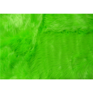 Long Pile Shaggy Fur LIME