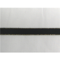 "3/8"" Gold Metallic Edge Satin Ribbon"