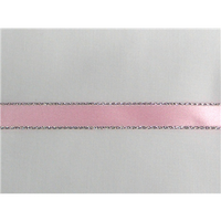 "3/8"" Silver Metallic Edge Satin Ribbon"