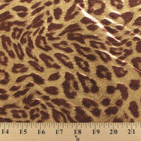 Dark Gold Brown Jaguar Metallic Spandex SP-17