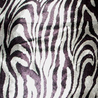 Silver Black Metallic Zebra Spandex SP-20
