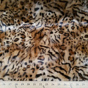 Hi Low Leopard Gold/Black Minky Fur MF-15