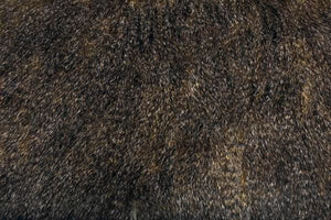 Striped Frizzy Fox Brown Minky Fur MF-16