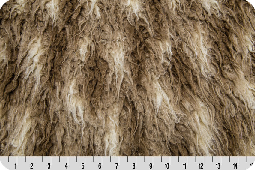 African Mongolian Fur Beige/Brown MF-43