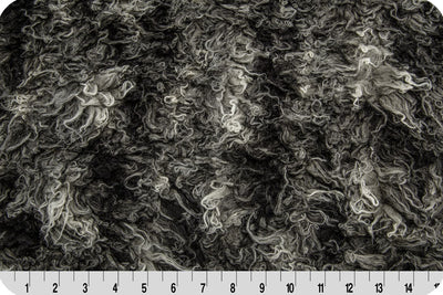 African Mongolian Fur Gray/Black MF-44
