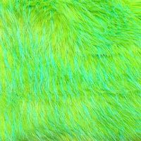 Lime Turquoise Feather Fur MF-4