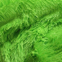 "Minky Shaggy Fur DARK LIME ""LAST PIECE 1 1/2YDS"""