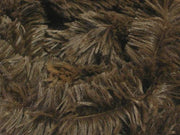 "Minky Shaggy Fur BROWN ""LAST PIECE MEASURES 2 YARDS 18 INCHES"""