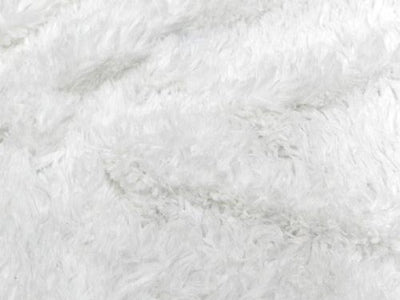Minky Shaggy Fur WHITE