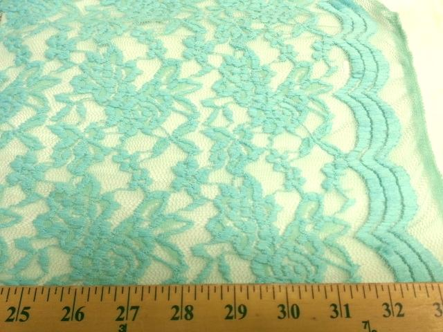 Jacquard Stretch Lace MINT