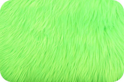 Long Pile Shaggy Fur NEON GREEN