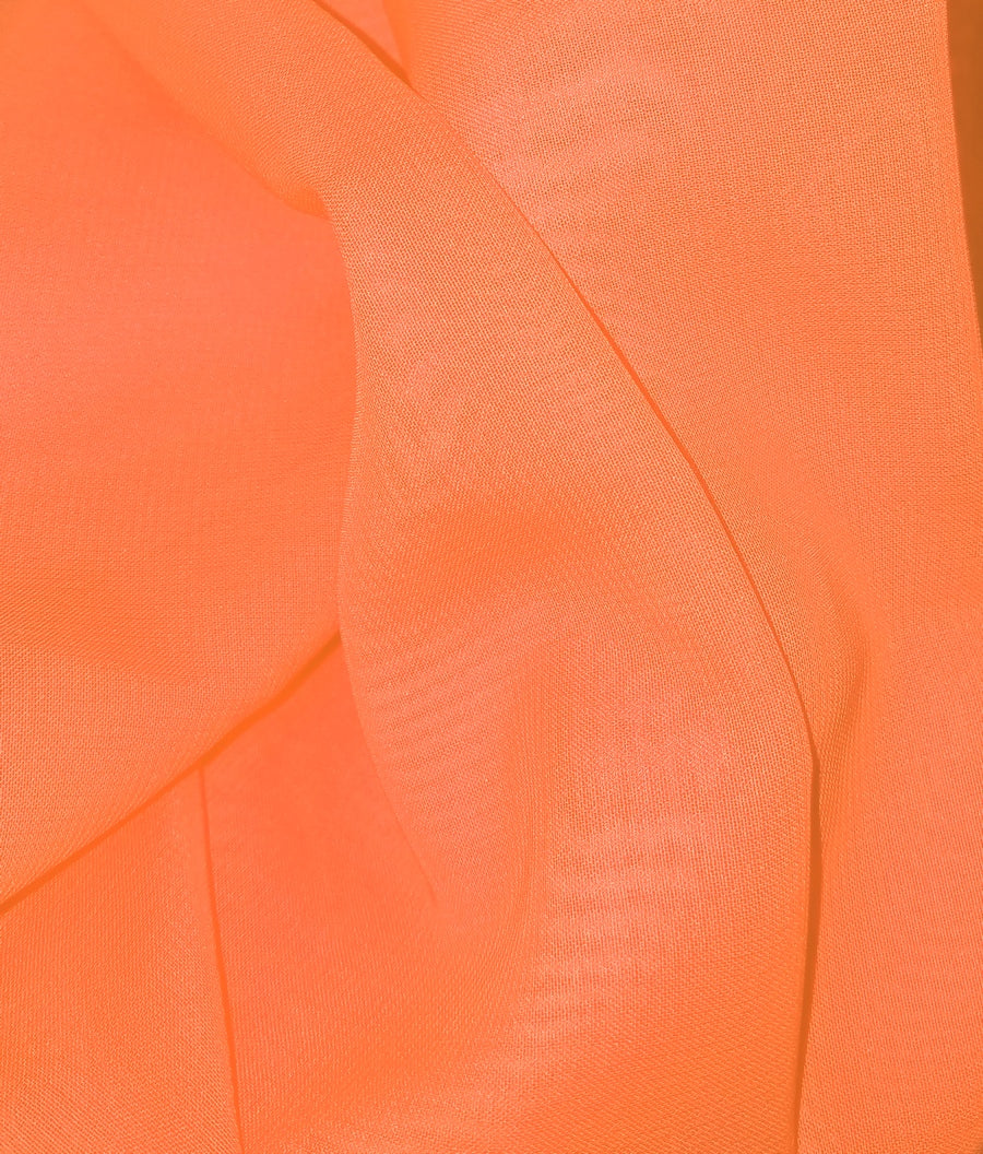 Chiffon 60 Inch Wide Neon Orange Pink CH-23