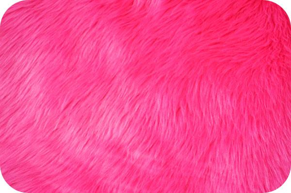 Long Pile Shaggy Fur NEON PINK