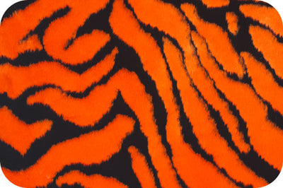 Zebra Orange Black Minky Fur
