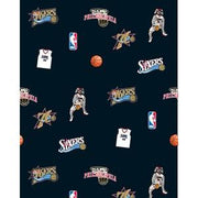 "Anti-Pill Philadelphia 76ers Fleece B324 ""LAST PIECE MEASURES 1 YARD 22 INCHES"""