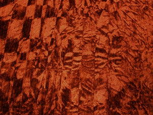 Poly Upholstery Crushed Velvet RUST CV-13
