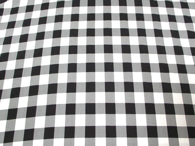 Poly Poplin Plaid BLACK