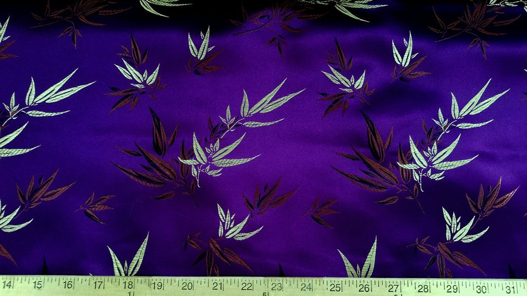 Chinese Bamboo Brocade Purple