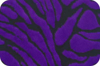 Zebra Purple Black Minky Fur