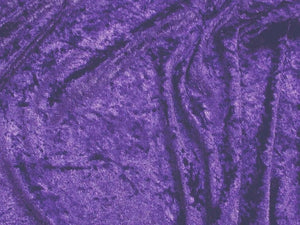 Crushed Panne Velour Velvet Purple
