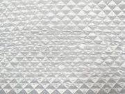 White 1-1/2 Quilted Satin