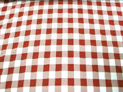 Poly Poplin Plaid DARK RED