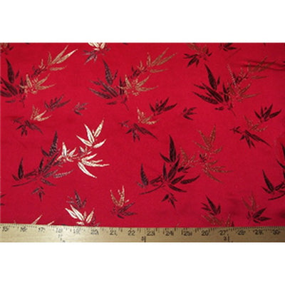 Chinese Bamboo Brocade Red