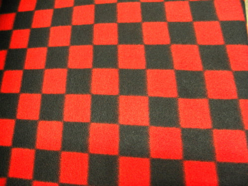 Red Black Checkered Fleece 222