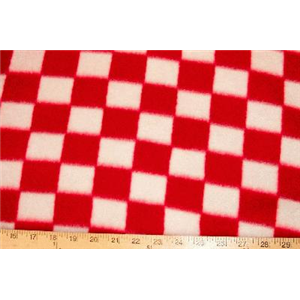 Checker Red Fleece