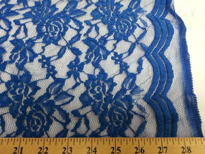 Jacquard Stretch Lace ROYAL BLUE