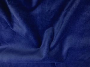 100% Cotton Med/Light Weight Velvet ROYAL BLUE