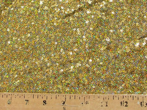 Embroidered Glitz Sequins GOLD