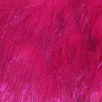 Long Pile METALLIC SHAGGY fur HOT PINK