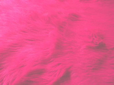 Long Pile Shaggy Fur FUCHSIA
