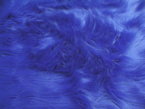 Long Pile Shaggy Fur ROYAL BLUE