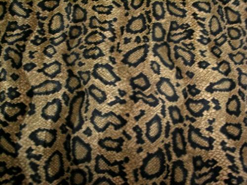 Velboa Animal Skins Fur Snake Skin