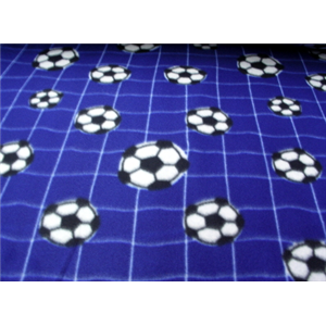Soccer Net Blue Fleece 178