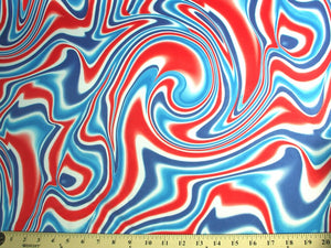 Red White Blue Swirls Spandex SP-21