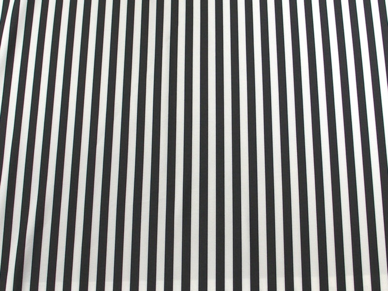Black White Stripes Spandex SP-32