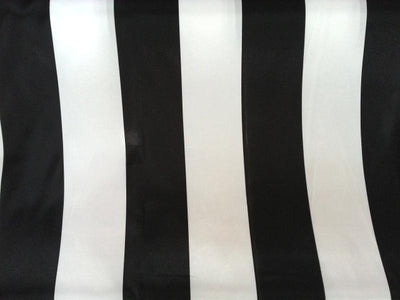 Striped Charmeuse Satin BLACK 3 1/4 INCHES