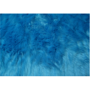Long Pile Shaggy Fur TURQUOISE