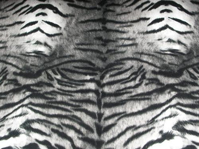 Upholstery Plush Velvet Prints GRAY TIGER
