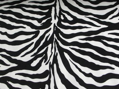 Upholstery Plush Velvet Prints LARGE BLACK WHITE ZEBRA