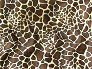 Velboa Animal Skins Fur Med Brown Giraffe