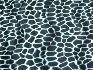 Velboa Animal Skins Fur Giraffe Baby Blue