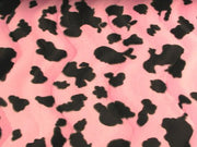 Velboa Animal Skins Fur Cow Pink